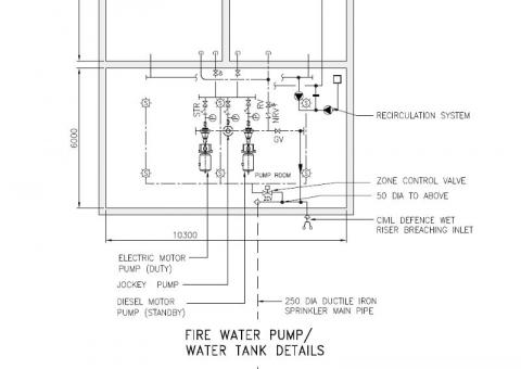 MEP Specification drawing for building Mechanical contract work