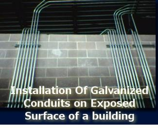 Method Statement For Installation Of Galvanized Conduits On Exposed Surface