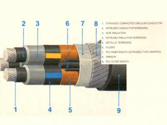 Multicore Cable showing details of each parts