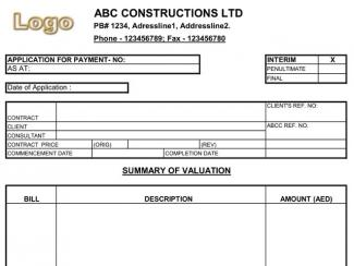 Payment Application for Construction Companies