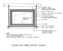 MEP Mechanical Specification - ductwork support drawing